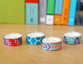 washi-tape-tea-lights